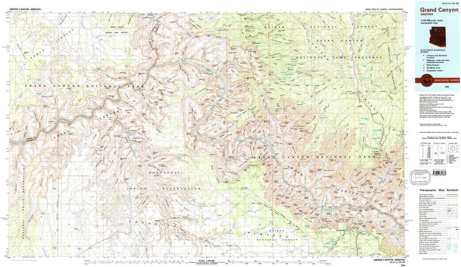 Grand Canyon Topographic Map Amazon.: YellowMaps Grand Canyon AZ topo map, 1:100000 Scale