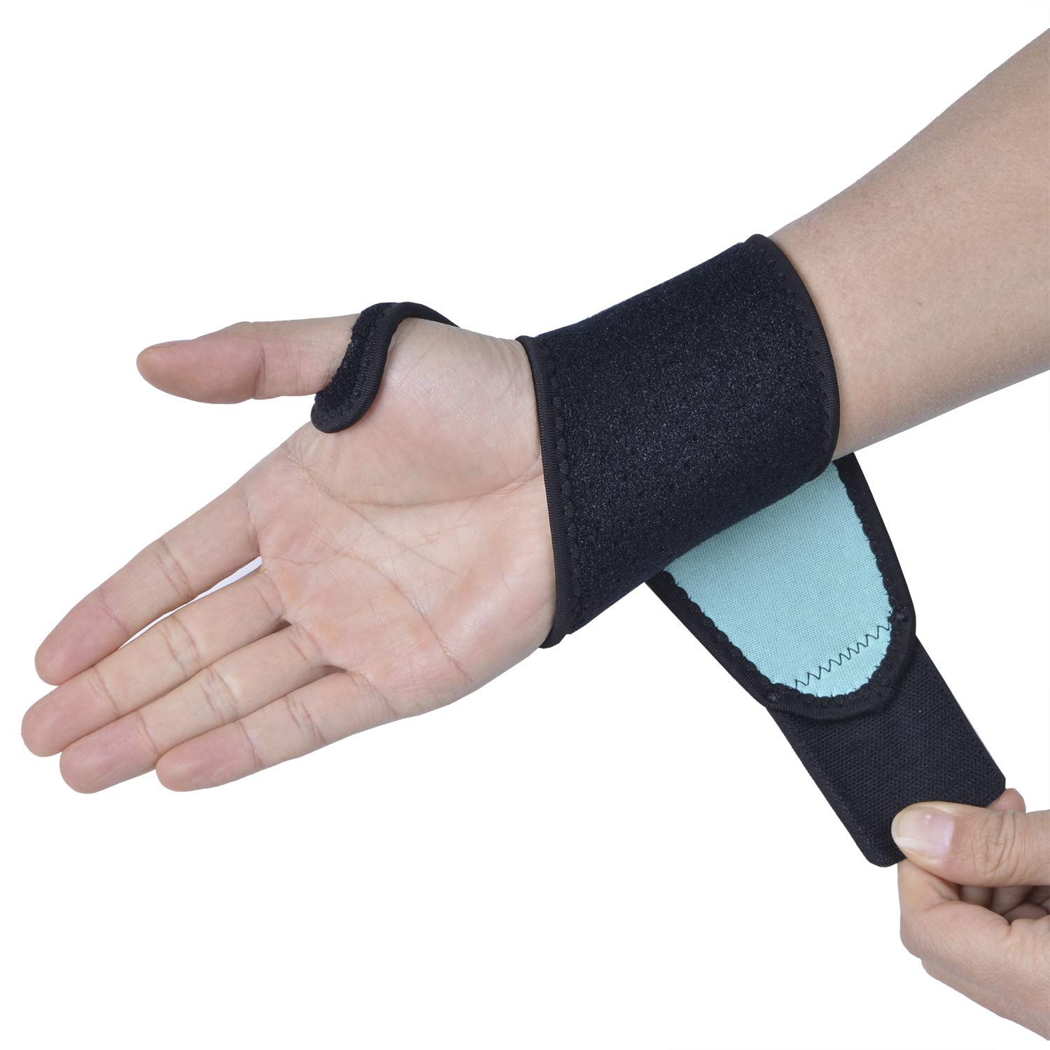 Relieve Carpal Tunnel Sprains and Fatigue Wrist Arthritis Pain Thx4COPPER/® Wrist Support for Both Right and Left Hands Thx4 Copper Copper Infused Compression Sleeve Adjustable Brace Strap Band