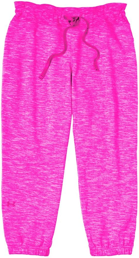 Under Armour Womens Charged Cotton Storm Marble 21 Capri Large PINKADELIC