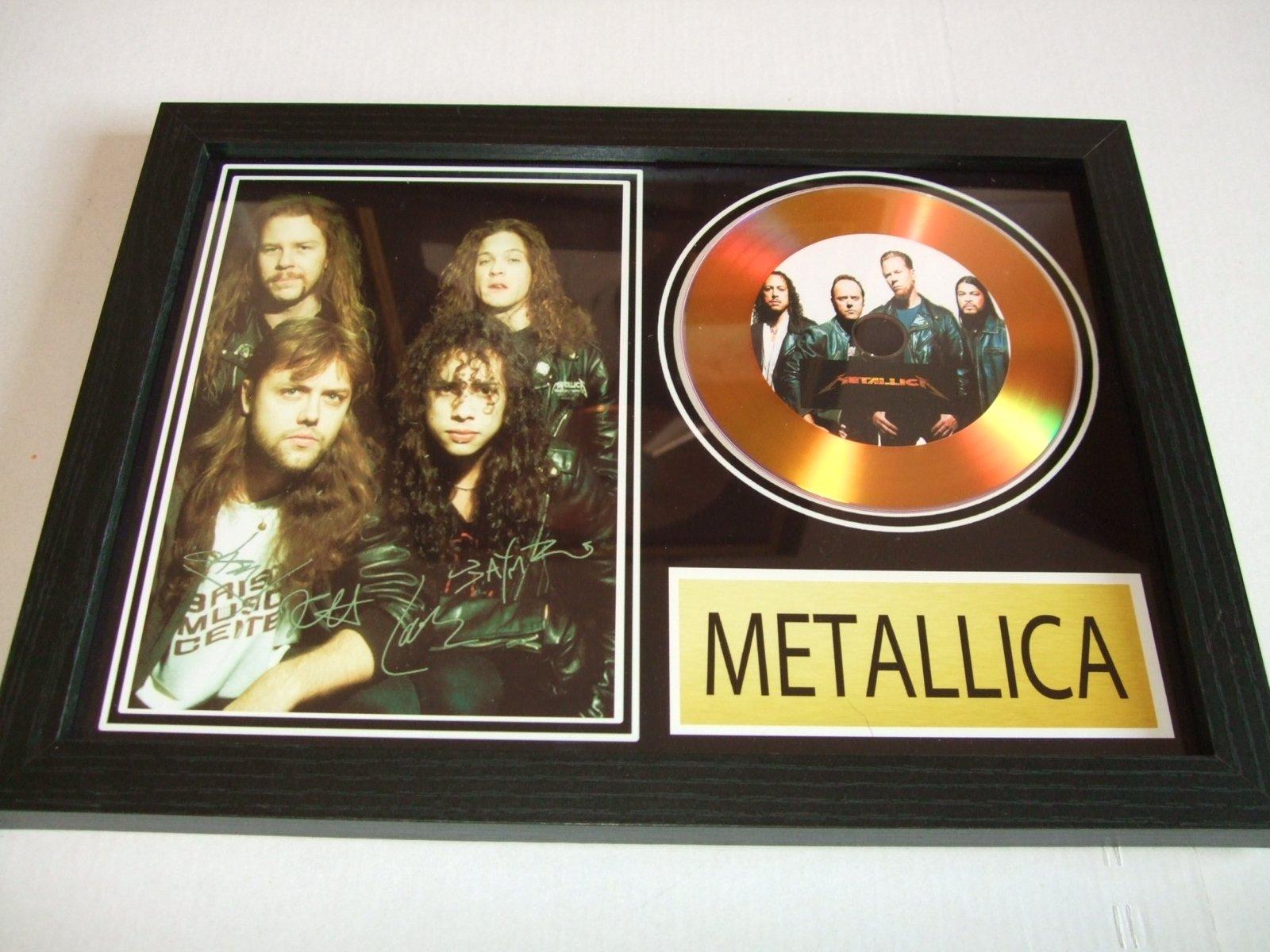 metallica signed gold disc