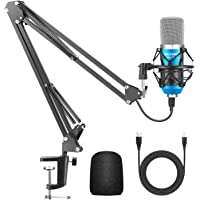 Neewer USB Microphone for Windows and Mac with Suspension Scissor Arm Stand, Shock Mount and Table Mounting Clamp Kit…