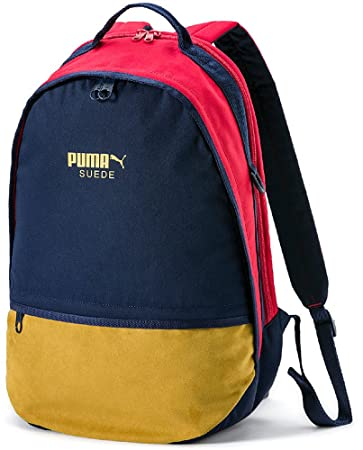 Puma Suede Backpack Rucksack, Peacoat Ribbon Red, OSFA