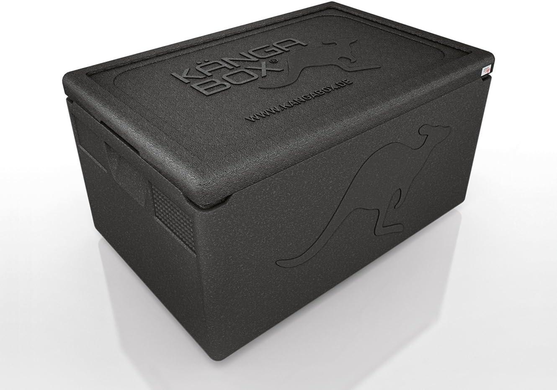 La bo/îte isotherme avec un int/érieur lisse et couvercle refermant parfaitement. K/ÄNGABOX Professional
