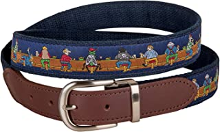 product image for Bar Flies Cut-to-Size Leather Tab Belt by Belted Cow Company - Made in Maine