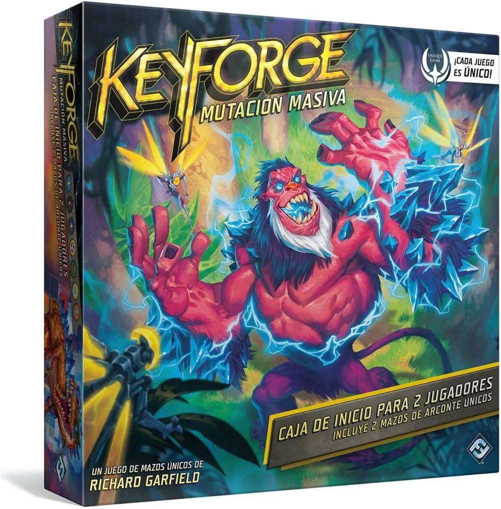 Juego de Cartas - KeyForge Mutación Masiva Caja de Inicio Adéntrate en un Mundo en el Que Todo es Posible: Amazon.es: Juguetes y juegos