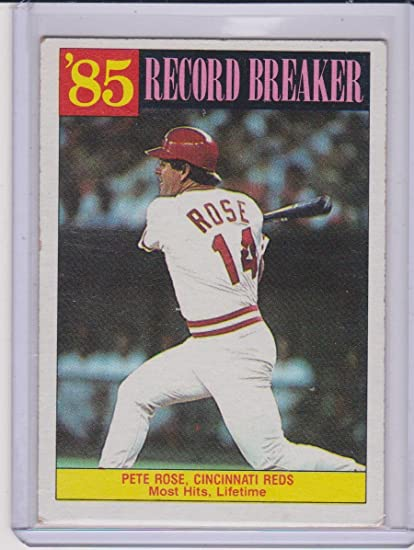 1986 Topps Pete Rose Reds Record Breaker Baseball Card 206