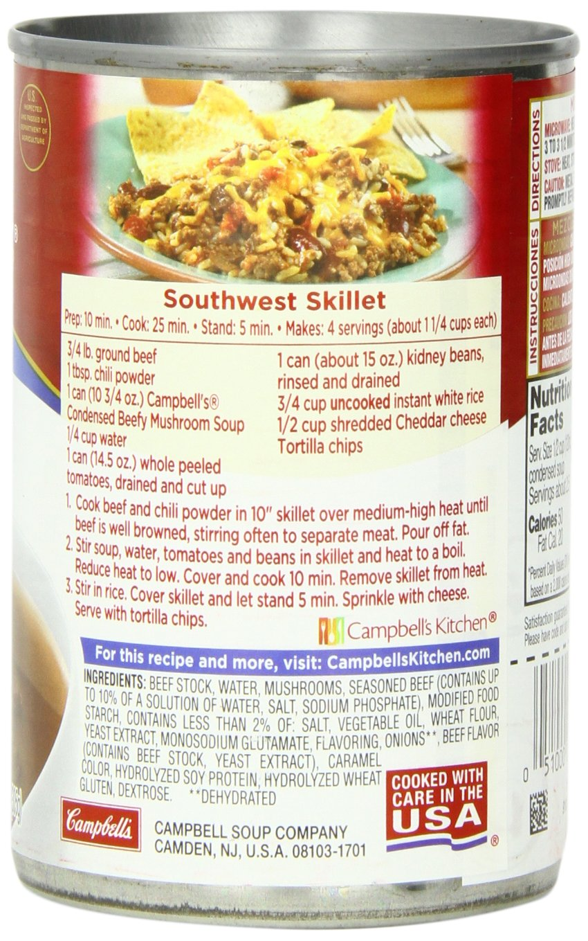 Amazon.com : Campbellu0027s Condensed Soup, Beefy Mushroom, 10.75 Ounce (Pack  Of 12) : Beef Soups : Grocery U0026 Gourmet Food
