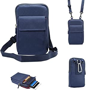 Universal Crossbody Cellphone Purse Waist Pack Bag for Outdoor Sports Moblie Phone Carrying Cases Shoulder Belt Bag Pouch for iPhone X 8/8 Plus Samsung Galaxy Phones Under 6.4'' from WaitingU
