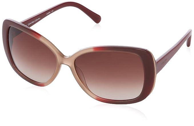 Calvin Klein Damen CK7859 Oval Sonnenbrille, 643 Burgundy & Mauve Gradient