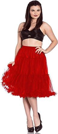 Falda larga con Volantes Polly de Hell Bunny con enaguas de tul de ...