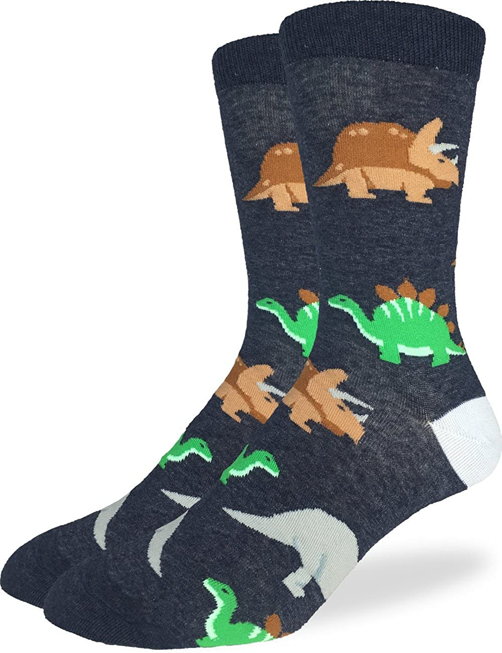Big /& Tall Shoe Size 13-17 Good Luck Sock Mens Extra Large Dinosaur Socks