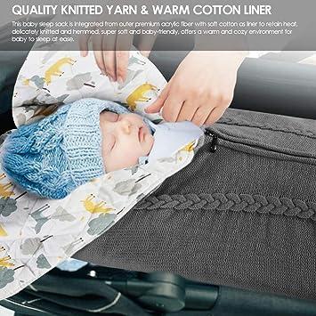 couverture en tricot enveloppante sac de couchage chaud souvent pour b/éb/é de 0 /à 12 mois Eurobuy enveloppe pour b/éb/é poussette pour nouveau-n/é unisexe