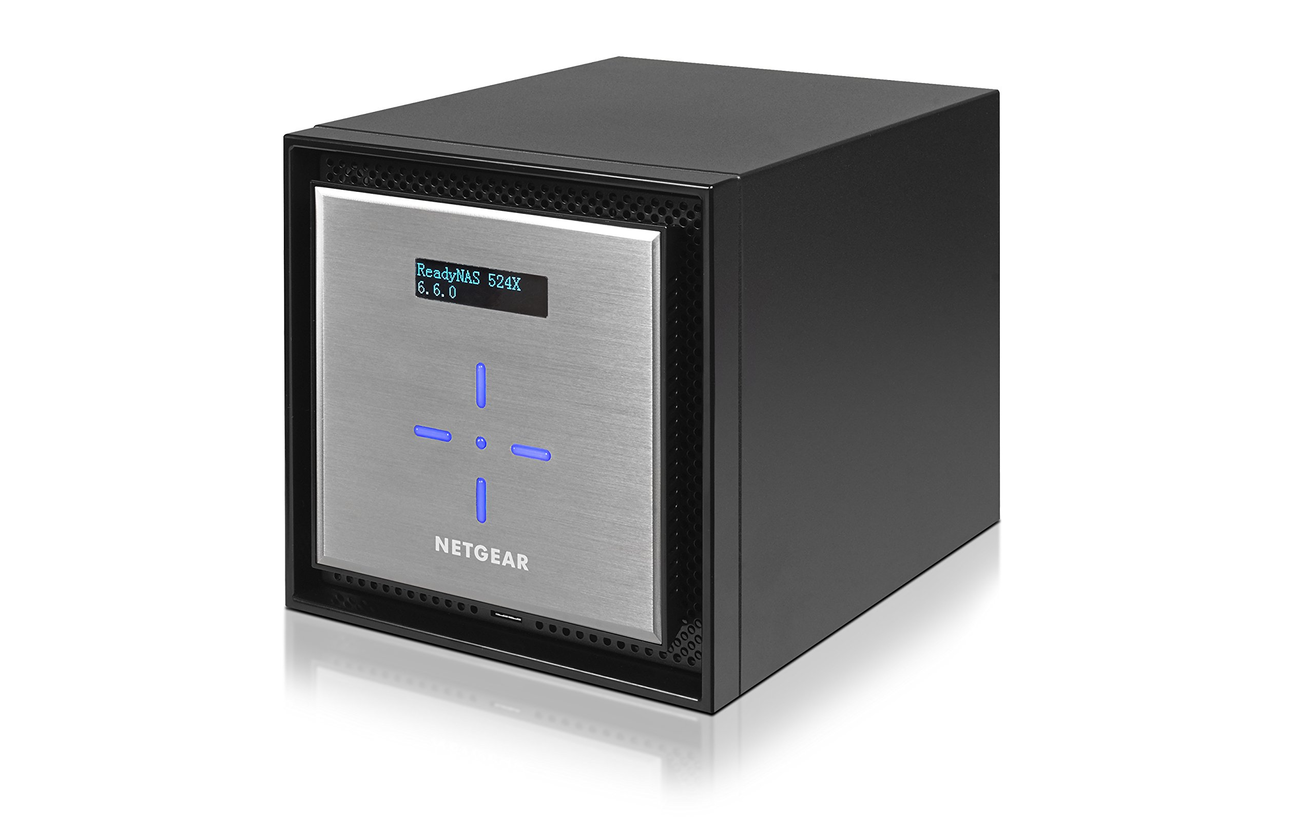 NETGEAR ReadyNAS RN524X00 4 Bay Diskless Premium Performance NAS, 40TB Capacity Network Attached Storage, Intel 2.2GHz Dual Core Processor, 4GB RAM 7 PREMIUM PERFORMANCE - Up to 20 gigabit per second data access, powered by a server processor 10G CONNECTIVITY - Utilize your 10G infrastructure for fast data sharing and backup throughput HIGH-PERFORMANCE - Get 2x faster business application processing with the latest 64-bit technology