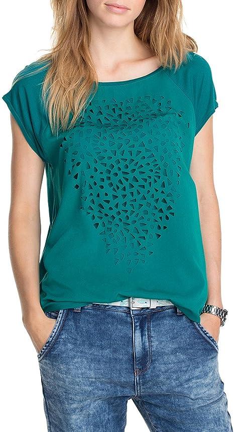 Esprit - t-shirt - uni - femme - vert (vert