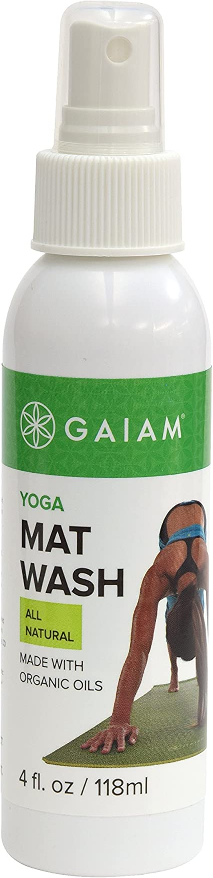 Amazon Com Gaiam Yoga Mat Cleaner Spray 4oz Sports Outdoors