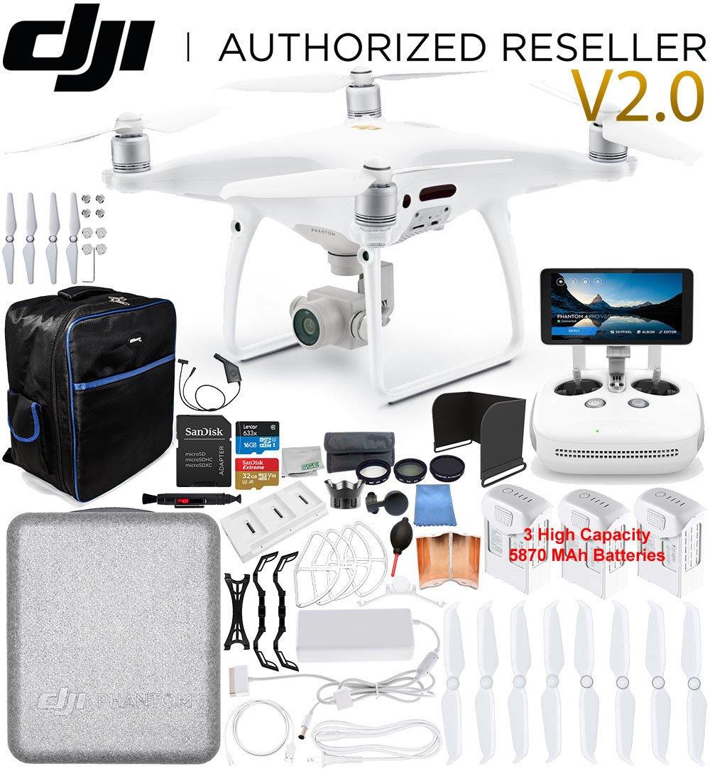 DJI Phantom 4 PRO+ PLUS V2.0/Version 2.0 Quadcopter 3 Battery...