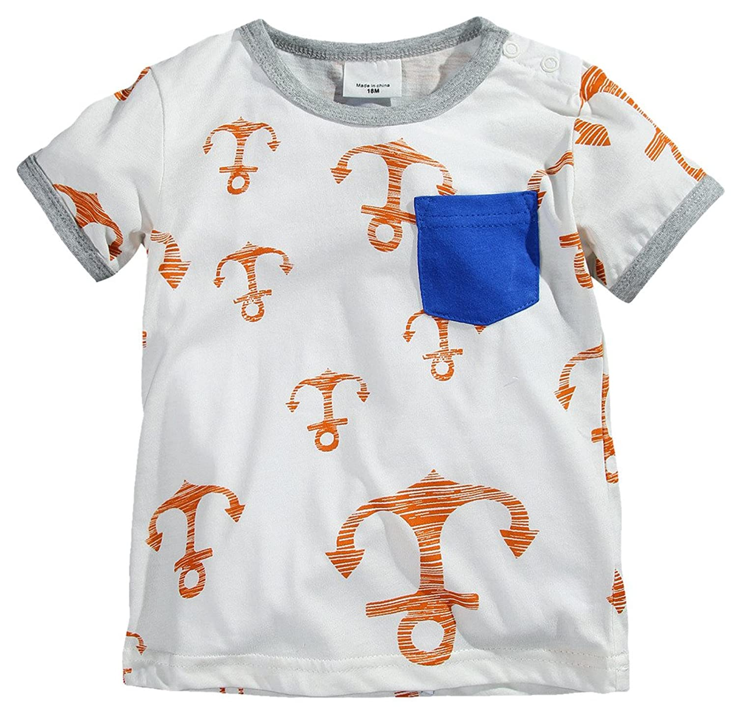 Amazon Fiream Little Boys Cotton Clothing Short Sets Clothing