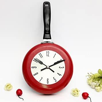 wanduhr kuche elegiant bratpfanne ka 1 4 chenuhr pfanne che haus quarz aufhangen design rot