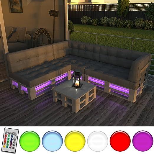 LED Streifen für Palettenmöbel Palettensofa Palette Couch