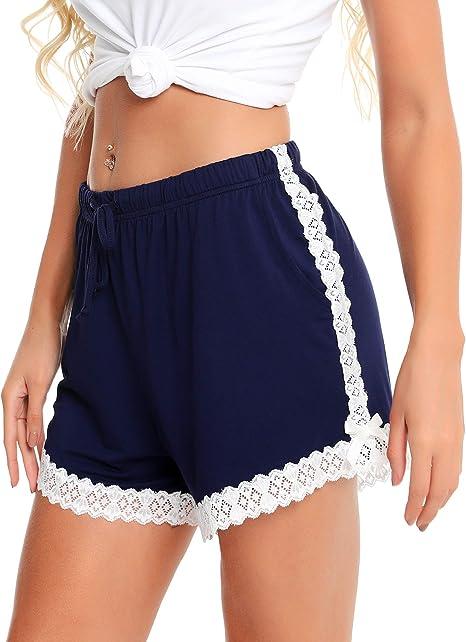 pu/ò Essere Usato Come Pantaloni da Pigiama da Donna per Dormire Vlazom Pantaloncini Donna Estivi 95/% Cotone Morbido /& Traspirante