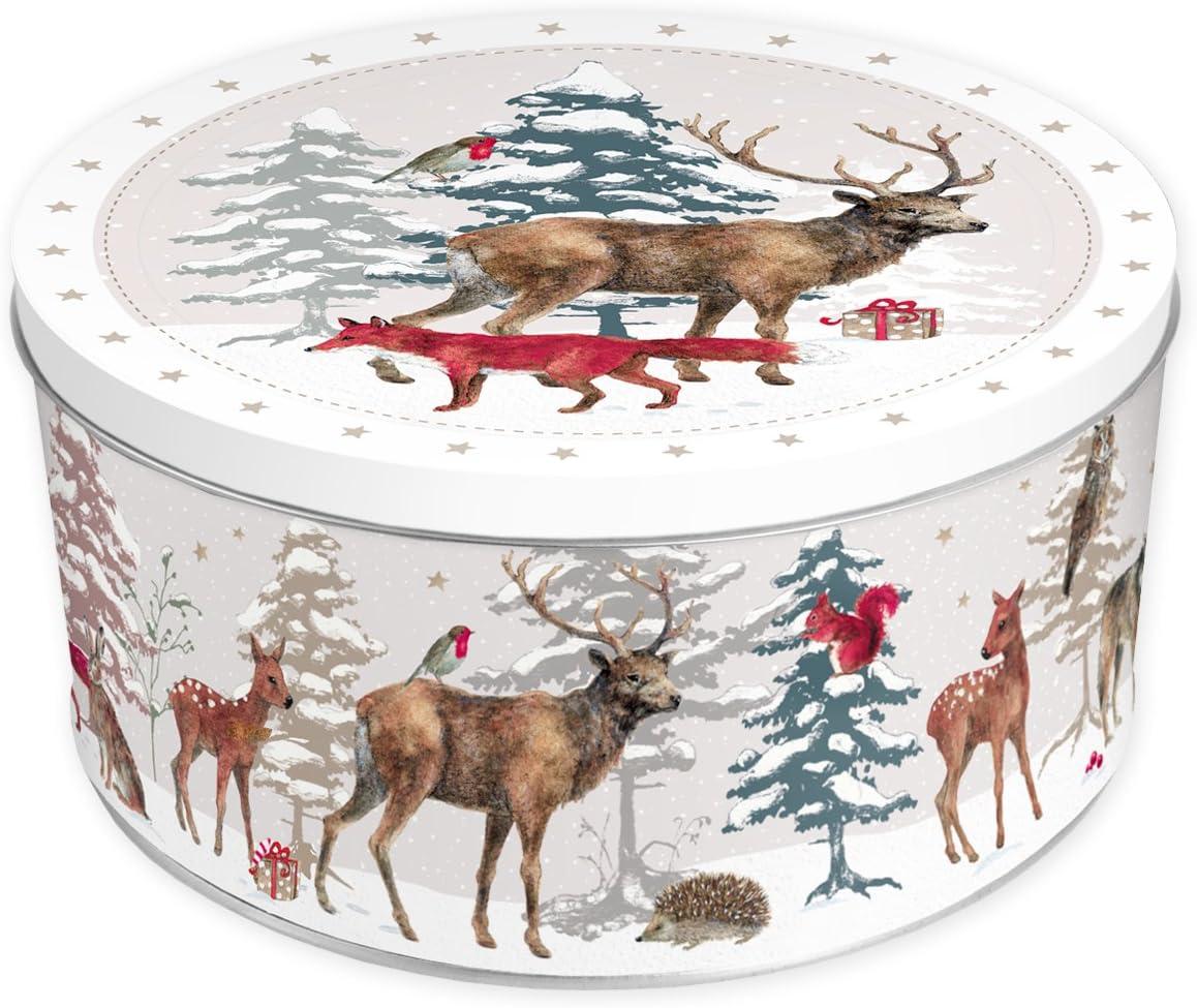 Estilo retro//–/Lata para galletas, redonda, color rojo, para almacenaje, aprox. 10,5 cm de alto Bote para galletas de Gr/ätz Verlag