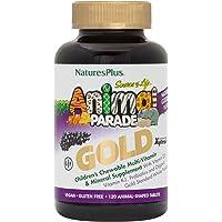 NaturesPlus Animal Parade Source of Life Gold Children's Multivitamin - Grape Flavor - 120 Chewable Animal Shaped…