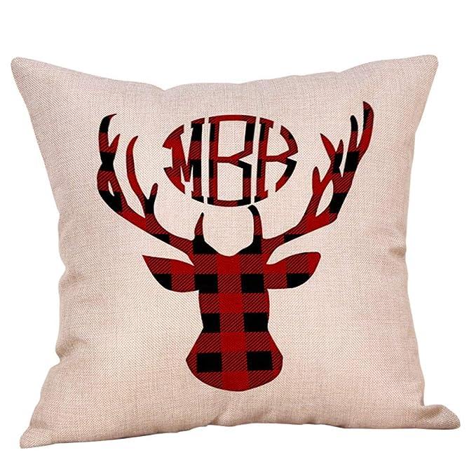 Amazon.com: Funda de almohada cuadrada para decoración ...