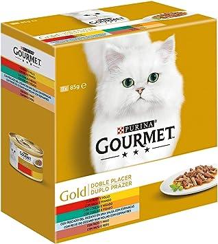 Gato Húmedo Gourmet Gold Doble Placer Pack Surtido 680 G: Amazon ...
