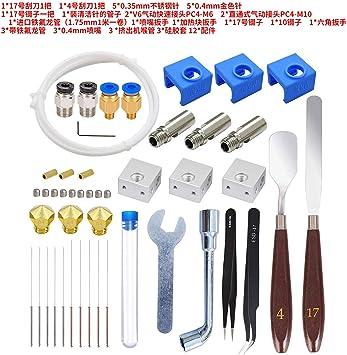 SODIAL Accesorios de Impresora 3D Mk10 Kit Boquilla Calentador ...