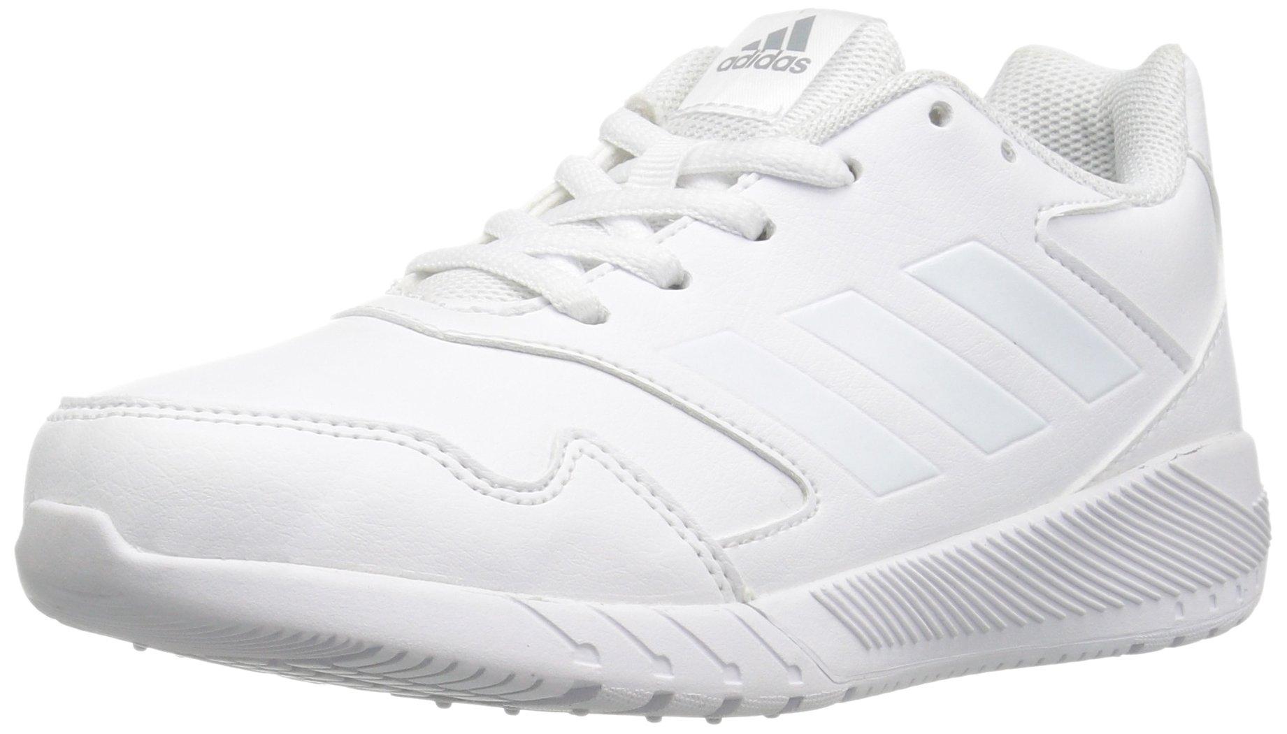 adidas Kids' Altarun Running Shoe, White/White/Mid Grey, 3.5 Medium US Little Kid