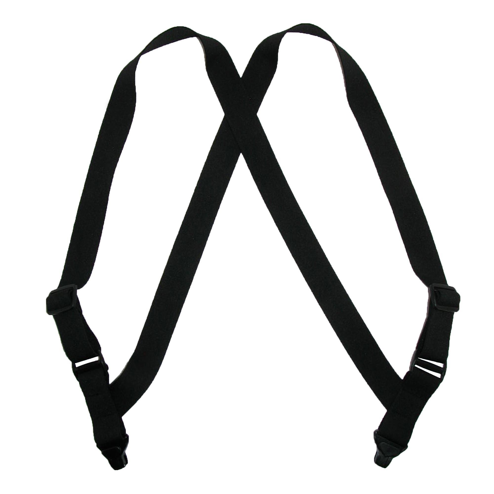 CTM Men's Elastic Side Plastic Clip TSA Compliant Airport Suspenders, Black