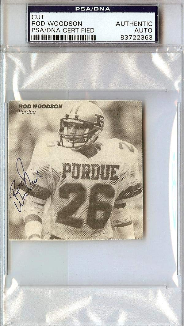 Rod Woodson Autographed 3x3 Cut Signature #83722363 - PSA/DNA Certified - NFL Cut Signatures Mill Creek Sports