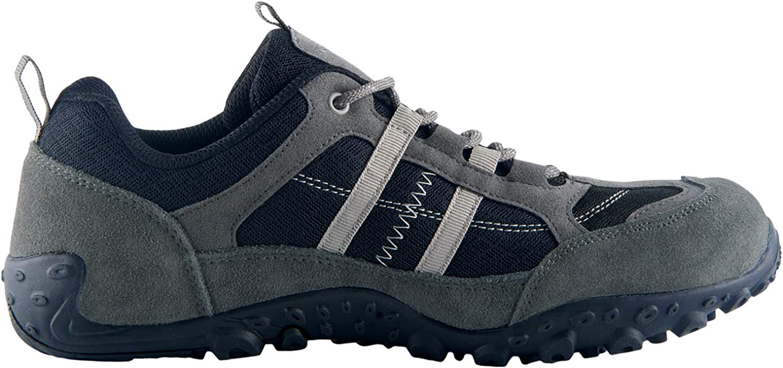 Knixmax Zapatillas de Senderismo para Hombre Negro, Gris, Marr/ón Zapatillas de Monta/ña Trekking Trail Ligeros C/ómodos y Transpirables Zapatillas de Seguridad Low-Top Antideslizante de Deporte