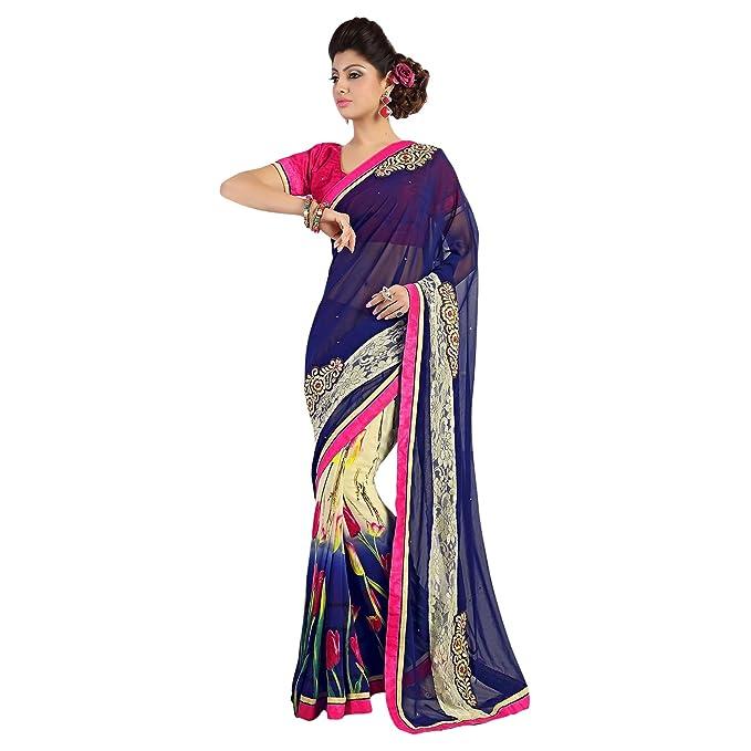 Última moda traje indio Sari Con UNSTICHED la blusa pieza de diseño étnico Saris