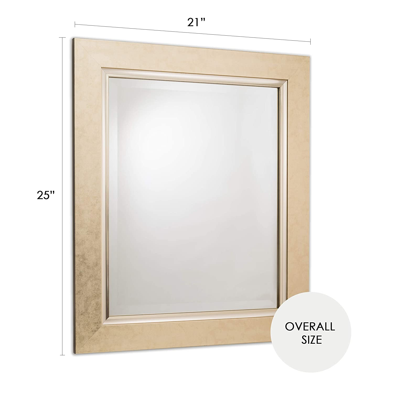 0dd8ca24f4a6c Amazon.com  Wall Mirror Decorative Vanity Bathroom Rectangular Vintage Gold  Beveled Frame 16x20  Home   Kitchen