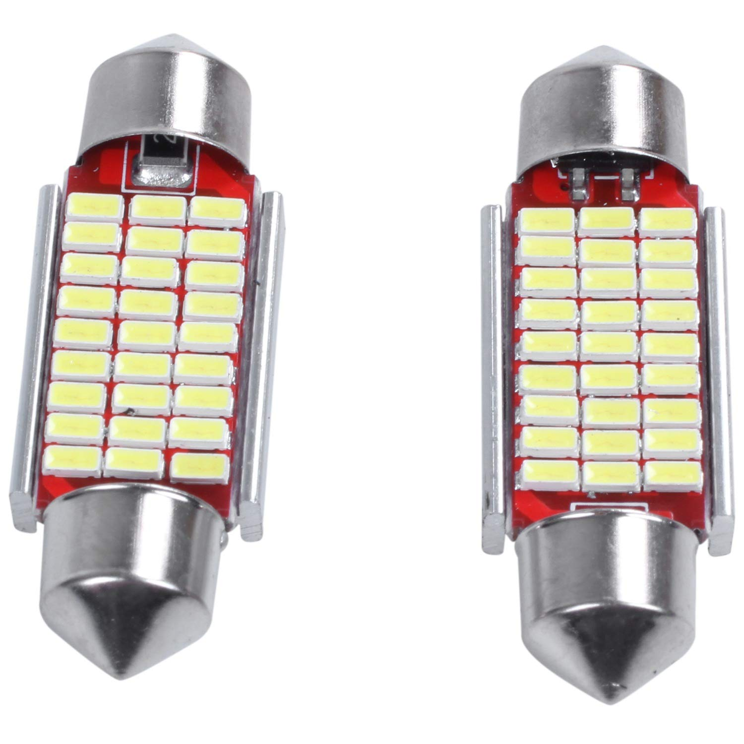 Binchil 2Pcs C5W C10W 36mm 3014 27SMD Festoon Led Canbus Car Inteiror Bulb License Plate Light 12V