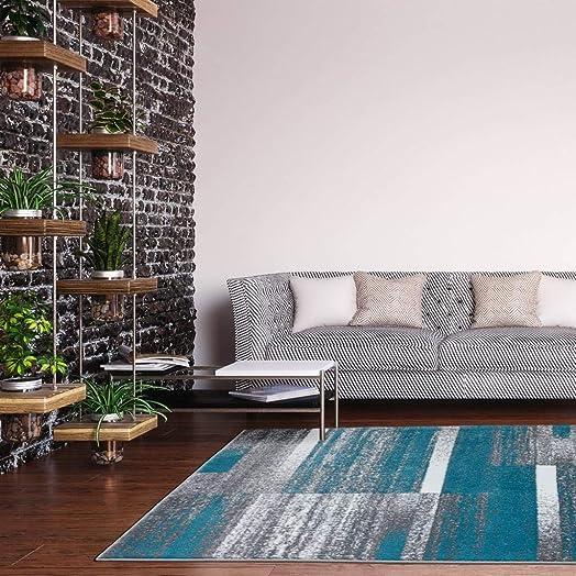 Luxe Weavers Lagos Collection 9248 Turquoise 9×12 Art Deco Geometric Area Rug