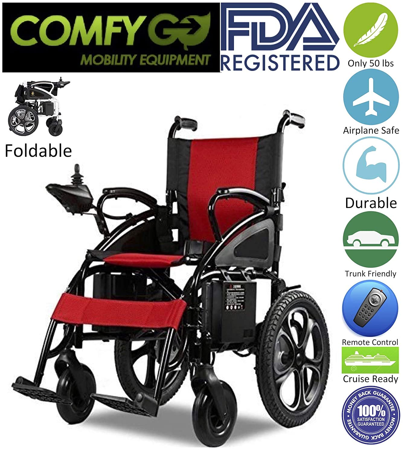 Amazon.com: 2019 New Majestic Buvan Electric Wheelchairs ...