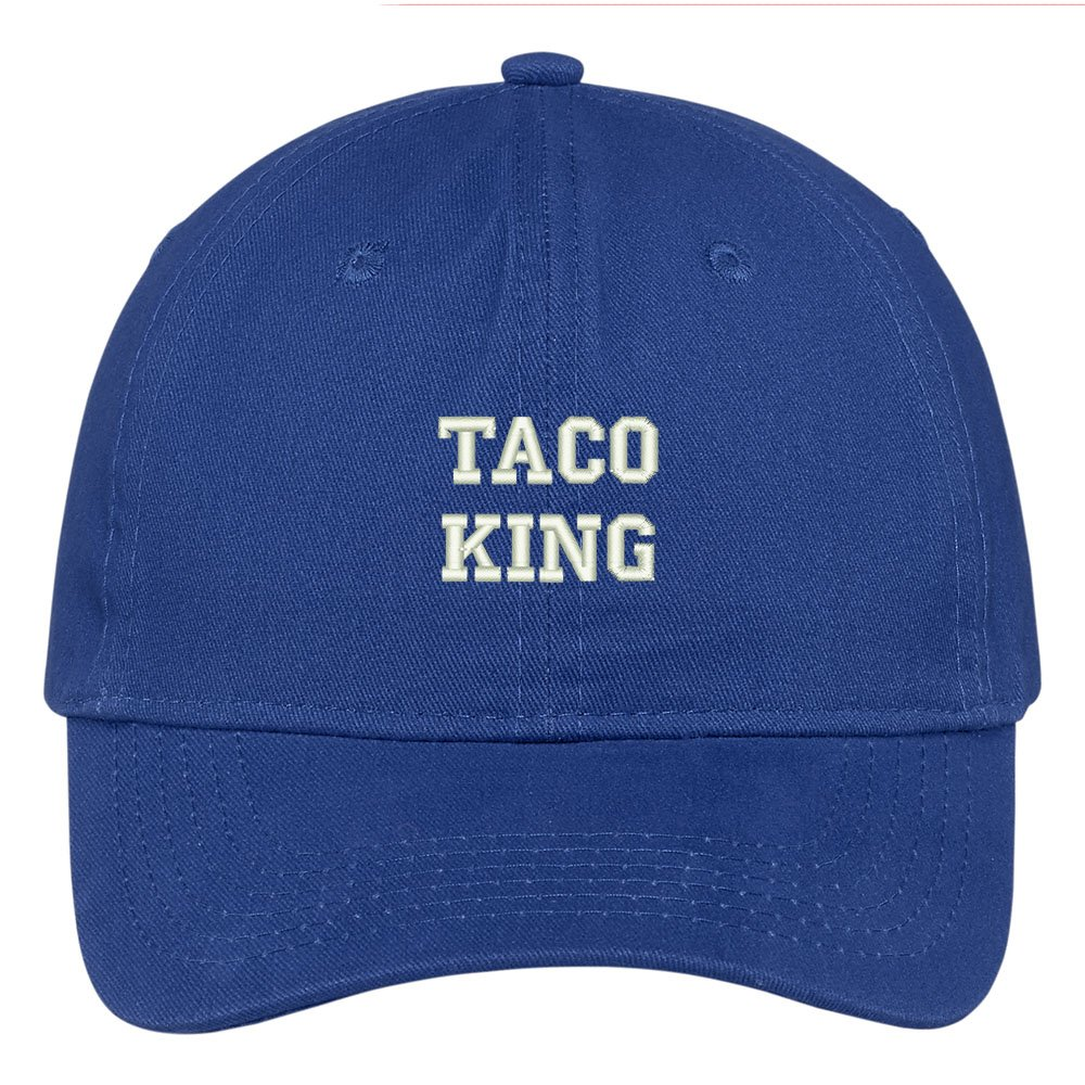 Trendy Apparel Shop Taco King Embroidered Low Profile Adjustable Cap Dad Hat  - Black at Amazon Men s Clothing store  ce07693d684f
