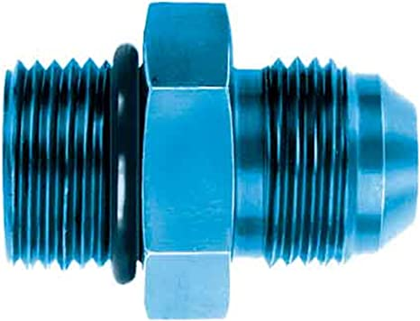 Aeroquip FCM2954 Blue Anodized Aluminum O-Ring Boss to Male 37-Degree Adapter