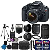 Canon EOS Rebel T5 Digital SLR + canon EF-S 18-55mm f/3.5-5.6 IS & EF 75-300mm f/4-5.6 III Lens Bundle