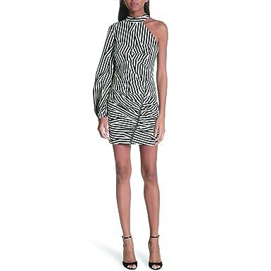52a0949a92b Image Unavailable. Image not available for. Color  Self Portrait  Black White Stripe Corset Casual Dress ...