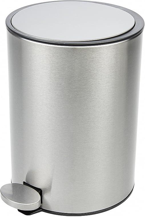 BAMODI Kosmetikeimer   Badezimmer Mülleimer 3 L In Top Qualität   Kosmetik  Treteimer Aus Gebürstetem Edelstahl