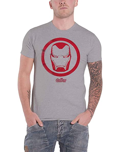 4f87b58e Avengers Infinity War T Shirt Iron Man Icon New Official Marvel Mens Grey:  Amazon.ca: Clothing & Accessories