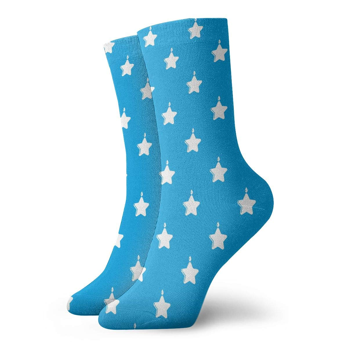TAOMAP89 Candle Star Pattern Compression Ankle Socks for Women and Men No Show Diabetic Socks Athletic Best for Flight Football