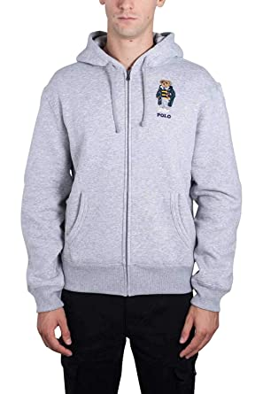 Polo Ralph Lauren Sweat Ours Gris pour Homme  Amazon.fr  Vêtements ... 6e9b744b3b82