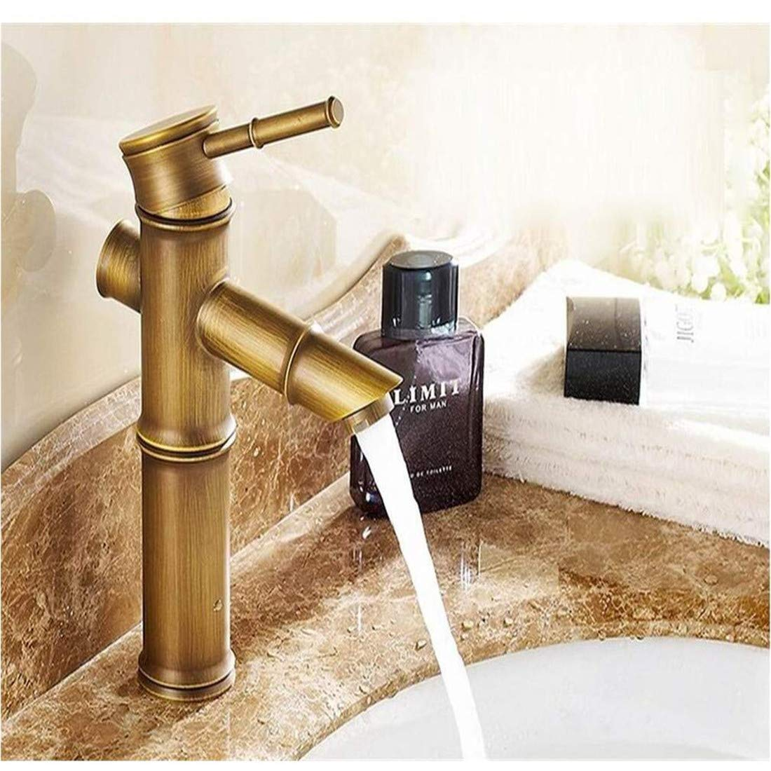 Vintage Faucet Mounted Single Handle Bamboo Style Bathroom Sink Mixer Faucet Bronze High Quality Popular
