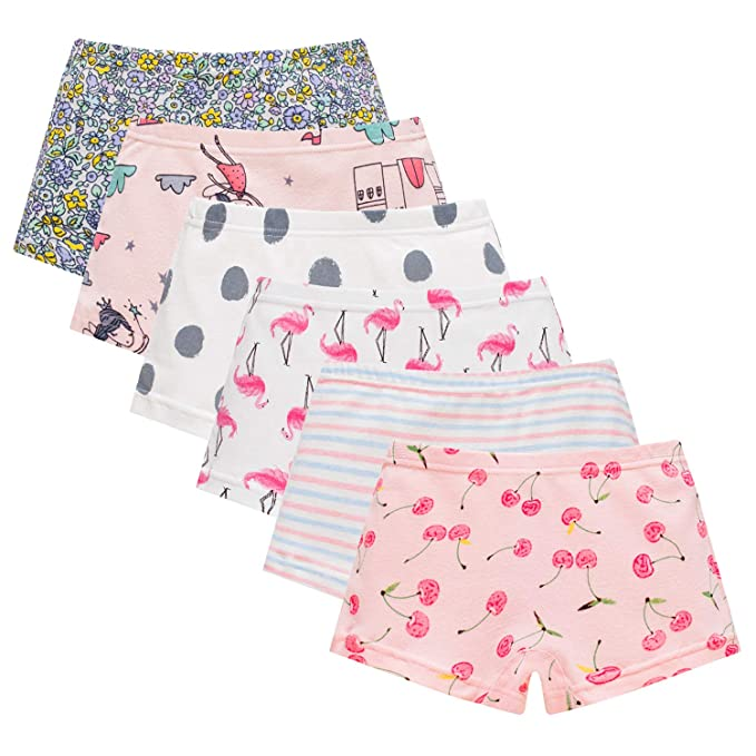 38b62aada1d0 Amazon.com: Boboking Baby Soft Cotton Panties Little Girls'Briefs Toddler  Underwear (Pack of 6): Clothing