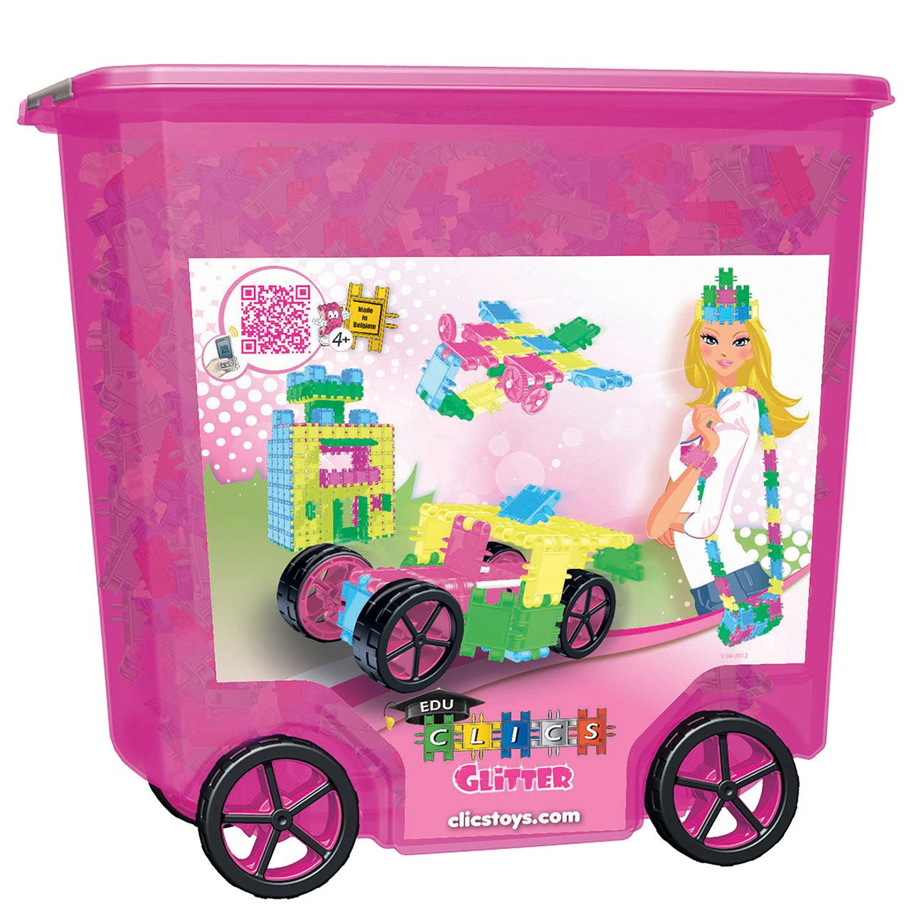 Clics Toys Rollerbox Glitter - Caja de almacenaje (800 piezas)