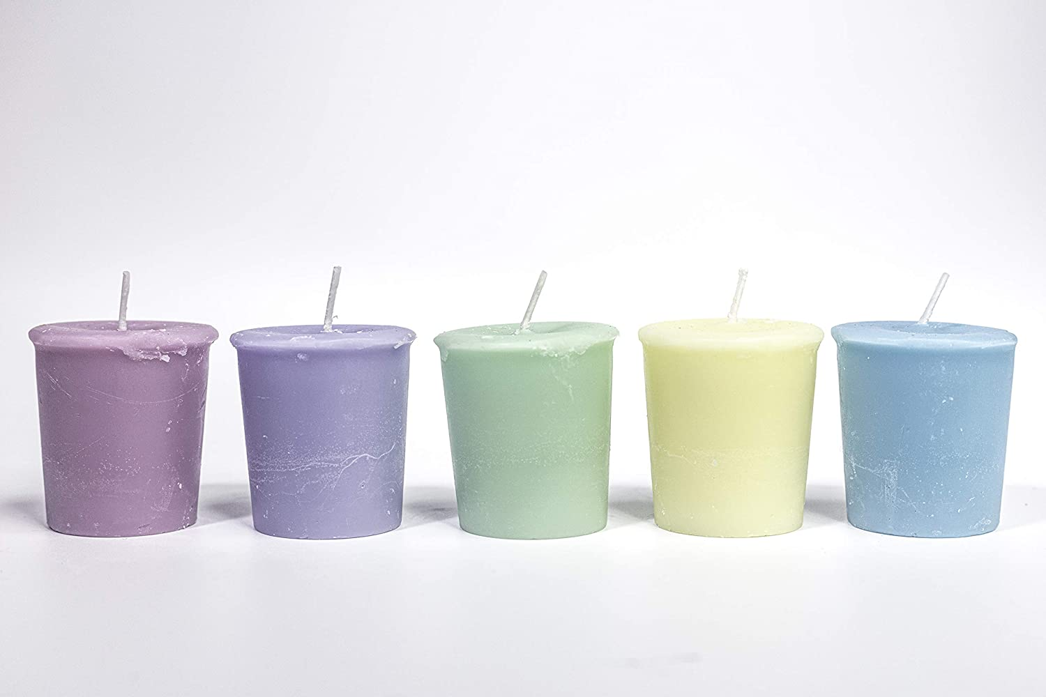 Candle Delights 5 Handmade Scented votives Set Beautiful by E